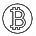 bitcoin, currency, money, online currency, virtual money icon