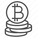 bitcoin, coins, money, online currency, virtual money icon