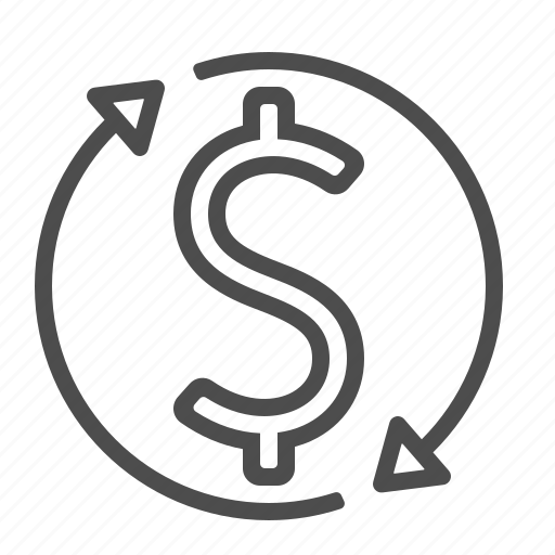 arrows, currency, currency exchange, dollar, exchange rate, money icon