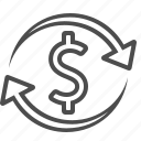 arrows, business, currency, dollar, exchange rate, money, transaction icon