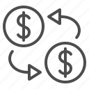 currency, exchange rate, finance, money, trade, transactions icon