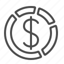 business, chart, dollar, finance, graph, money icon