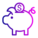 bank, coin, currency, dollar, finance, piggy, savings icon
