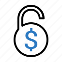 currency, dollar, lock, safe icon