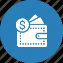 currency, dollar, finance, money, pocket icon