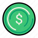 currency, dollar, money, recycle icon