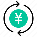 currency, money, recycle, yen icon