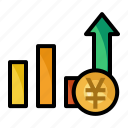 chart, currency, money, yen icon