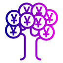 currency, finance, money, tree, yuan icon