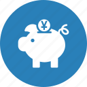 bank, coin, currency, finance, piggy, savings, yuan icon