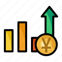 chart, currency, money, yuan icon