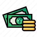 coin, currency, money, yuan icon