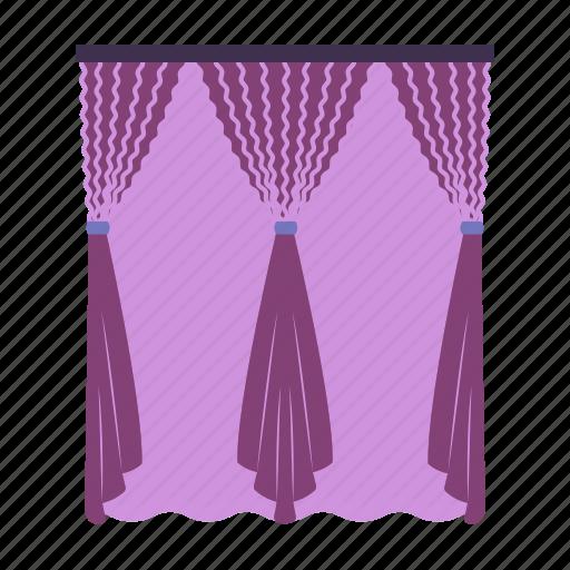 apartment, cornice, curtains, design, house, interior, window icon
