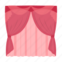 apartment, cornice, curtains, design, house, interior, window icon
