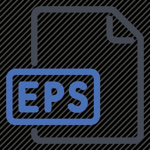 document, eps, extension, file, format, post, script icon