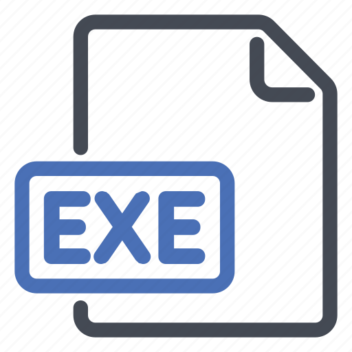 document, exe, execute, extension, file, format icon