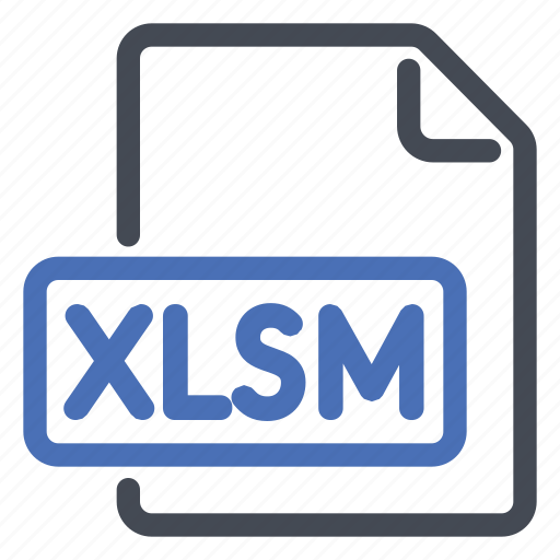 document, excel, extension, file, format, macro, xlsm icon