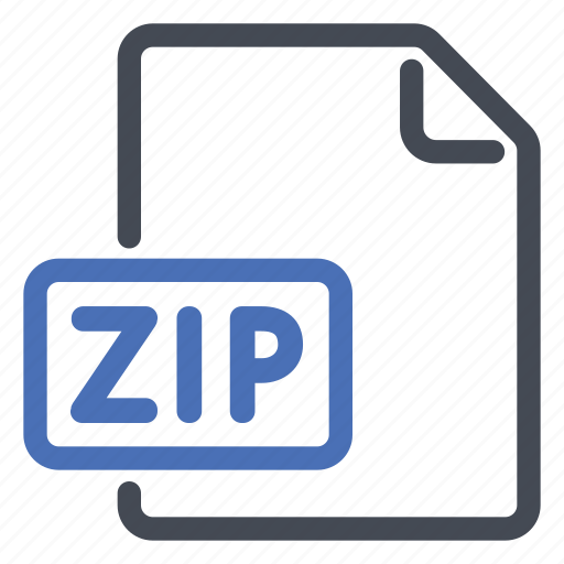 compressed, document, extension, file, format, zip icon
