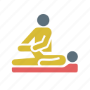 doctor, exercise, health, healthy, massage, physio, spa icon
