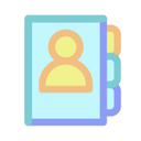 phone, contacts, call, phonebook icon
