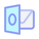 outlook, email, envelope, letter icon