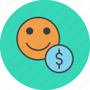account, banking, dollar, employee, finance, trade, user icon