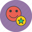 account, employee, favorite, important, popular, star, user icon