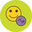 account, analysis, employee, report, statistics, stats, user icon