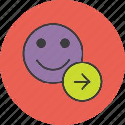 account, arrow, customer, forward, navigation, next, user icon