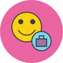 account, briefcase, customer, profile, suitcase, travel, user icon