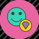 account, customer, gem, luxury, premium, profile, user icon