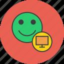 account, computer, customer, monitor, profile, system, user icon