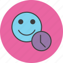 account, clock, customer, profile, schedule, time, user icon