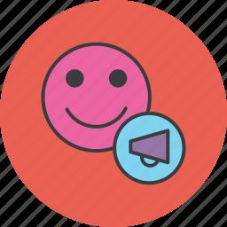 campaign, customer, marketing, sales, speech, user icon