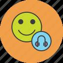customer, device, headphone, headset, multimedia, music, user icon