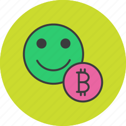bitcoin, currency, digital, finance, online, trade, user icon