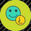 currency, digital, finance, litecoin, online, trade, user icon