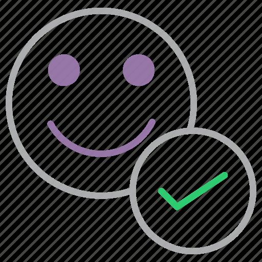account, approve, employee, profile, success, user, verify icon