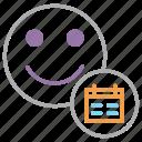 account, calendar, customer, date, employee, schedule, user icon