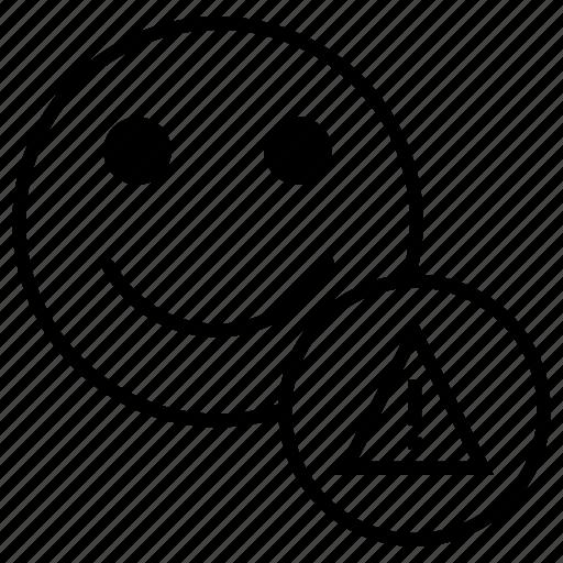 account, customer, error, fault, profile, user, warning icon