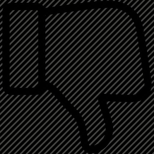 angry, bad, dislike, hate, thumb down icon