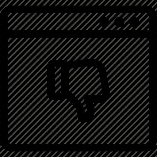 angry customer, dislike, negative, user feedback icon