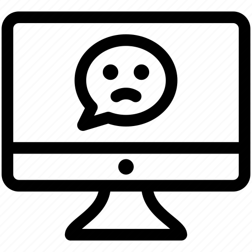 feedback, hate, negative feedback, software feedback icon