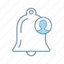 announcement, bell, client, consumer, customer, notification, reminder icon