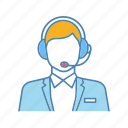 assistant, call center, customer support, headset, hotline, manager, operator