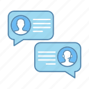 chatting, client, customer support, help, live chat, notification, speech bubble icon