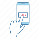 banking, buy, internet, online, payment, shopping, smartphone icon