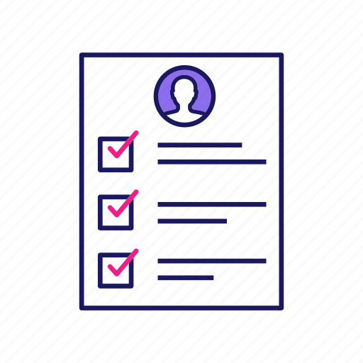 Checklist, cv, quality control, questionnaire, research, resume, survey icon - Download on Iconfinder