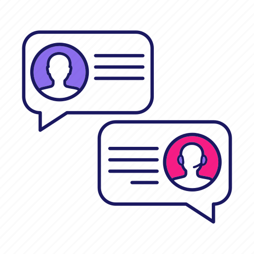 Chatting, client, customer support, help, live chat, notification, speech bubble icon - Download on Iconfinder