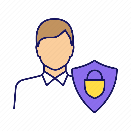 Customer, defense, person, protection, safeguard, safety, shield icon - Download on Iconfinder